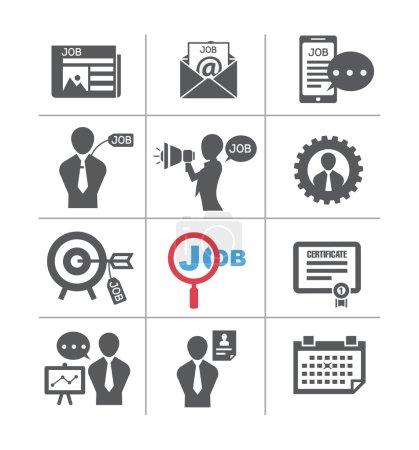 Illustration pour Ensembles de tâches, dans l'icône de style - image libre de droit