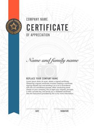 Illustration for Premium vector design certificate. luxury, modern, - Royalty Free Image