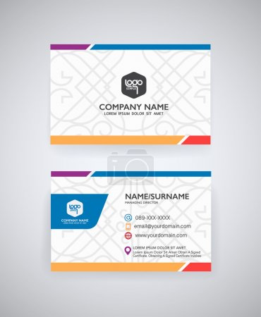 Illustration for Vector modern creative  business card templat - Royalty Free Image
