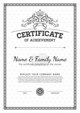 Illustration for Vector design certificate template. - Royalty Free Image