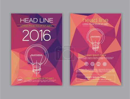 Illustration for Polygon Design vector template layout for magazine brochure flyer booklet cover annual report - Royalty Free Image