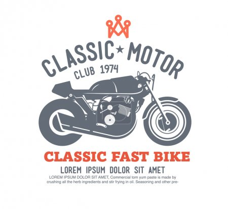 Logo motor club vector.