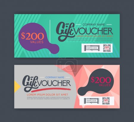 Illustration for Vector gift voucher template - Royalty Free Image