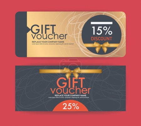 vector gift voucher template.