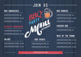 BBQ  menu restaurant template and wood texture background