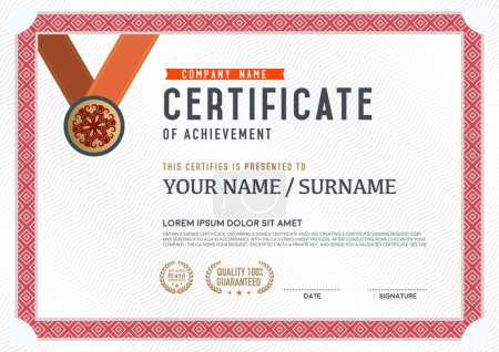 Illustration for Vector certificate template. and background. - Royalty Free Image