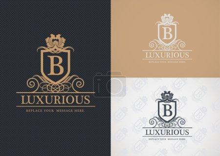 Luxurious logo design.