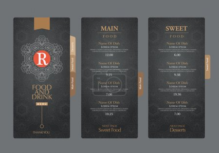 Illustration for Vector restaurant menu template - Royalty Free Image