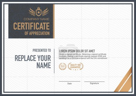 Illustration for Vector certificate template. luxurious, unique - Royalty Free Image