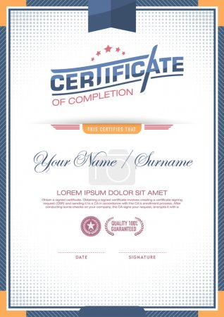 Illustration for Vector certificate template. success item. - Royalty Free Image