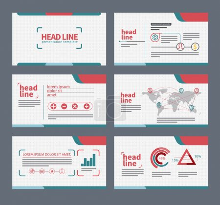 presentation template flat design
