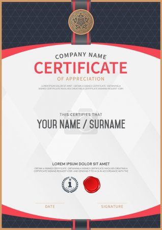 Illustration for Vector certificate template and frame. - Royalty Free Image