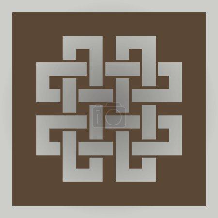 Geometric cross celtic symbol