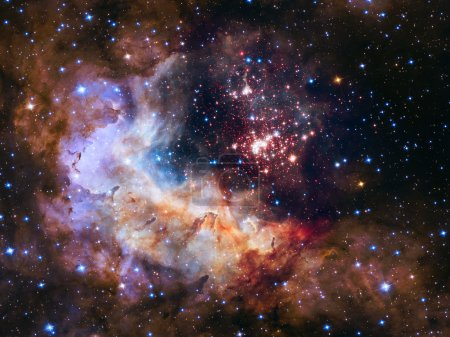 Super star cluster (Westerlund 2) in the constellation Carina.