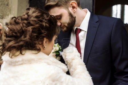 le marié et la mariée brune