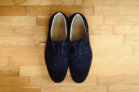 stylish elegant blue shoes