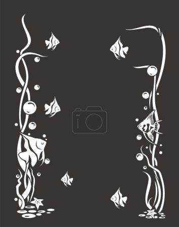 Photo pour Faune de la flore marine - image libre de droit