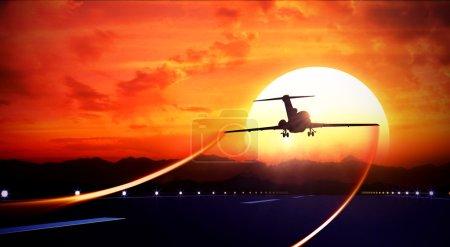 Passenger plane take-off