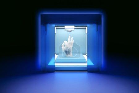 Photo pour 3 rendu illustration de l'imprimante électronique en plastique tridimensionnelle, imprimante 3D, impression 3D - image libre de droit