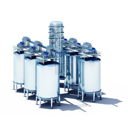 steel fermentation vats