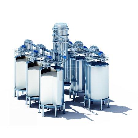 steel fermentation vats section
