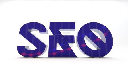 Photo pour SEO illustration d'optimisation des moteurs de recherche pour les blogs - image libre de droit
