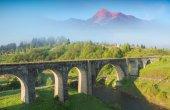 Bridge viaduct in the Carpathians