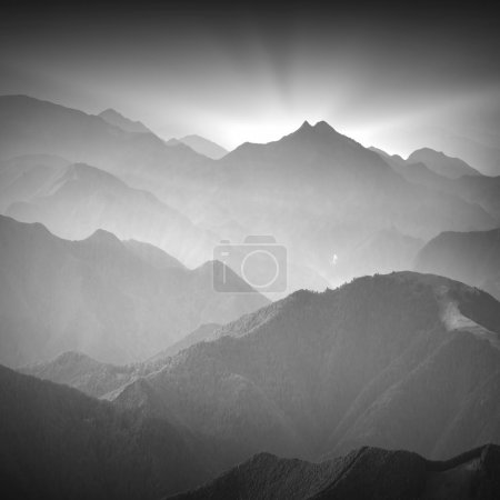 Ukrainian mountains. Monochrome colors
