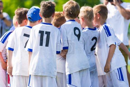 Football match for children shout