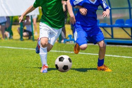 Children Playing Soccer Football Match