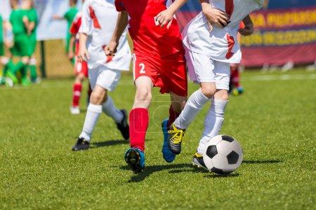 Football match for children. Training and football soccer tourna