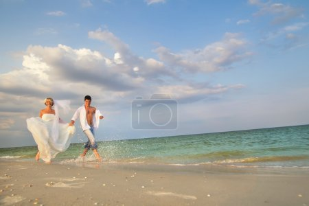couple running in sunshine