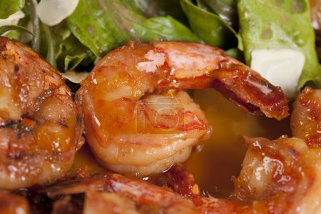 Photo for Close up of appetizer with yummy shrimps - Royalty Free Image