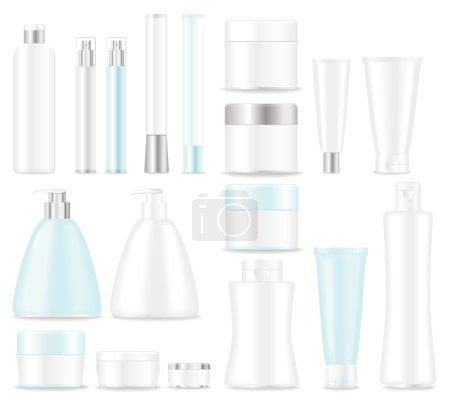 Illustration pour Tube cosmétique vierge sur fond blanc. Place pour votre texte . - image libre de droit