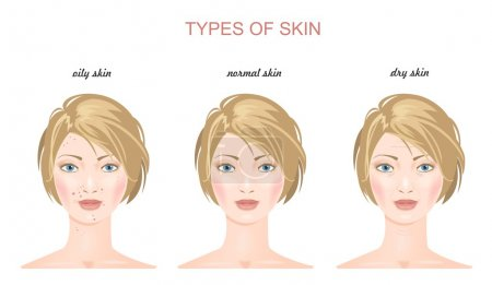Fase skin types. Vector