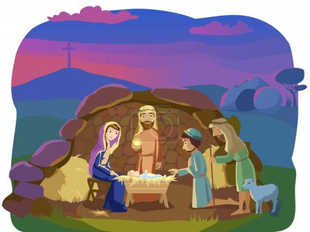 Christmas nativity scene.