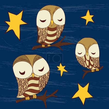 Cute dreamed owls