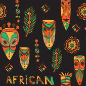 Domorodé africké masky a amulety