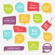 Set of sale banners design. Sale paper banner. Sal...
