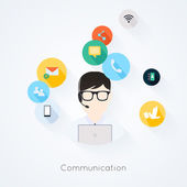 Business customer care service icons