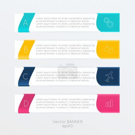 Illustration for Vector colorful text box, trendy colors - Royalty Free Image