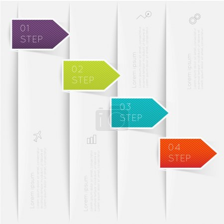 Abstract business info graphics template with icon...