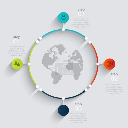 Colorful info graphics