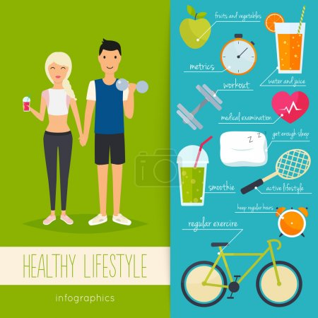Young man and woman lead a healthy lifestyle