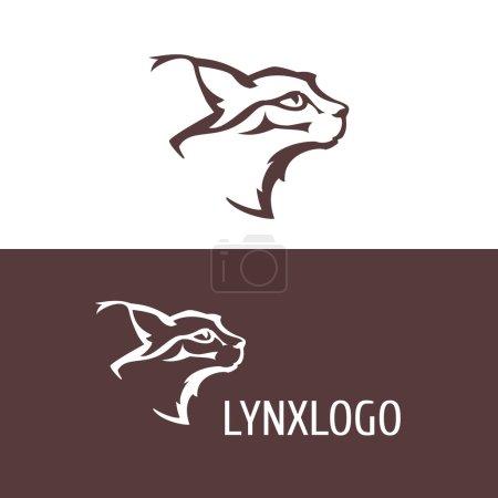 Illustration pour Logo tête de lynx - image libre de droit