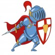 Knight with shield. Vector illustration....