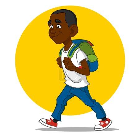 child goes to school.