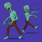 Постер, плакат: Set evil zombies