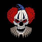 Illustartion of cartoon evil clown