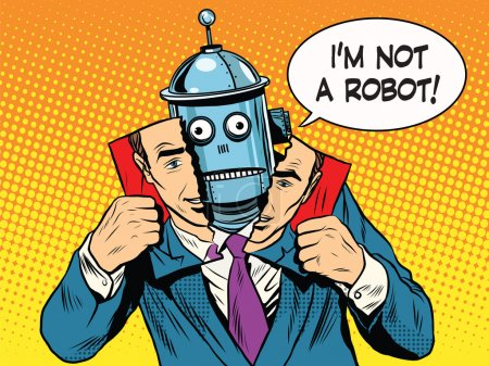 Artificial intelligence robot pretending to be human